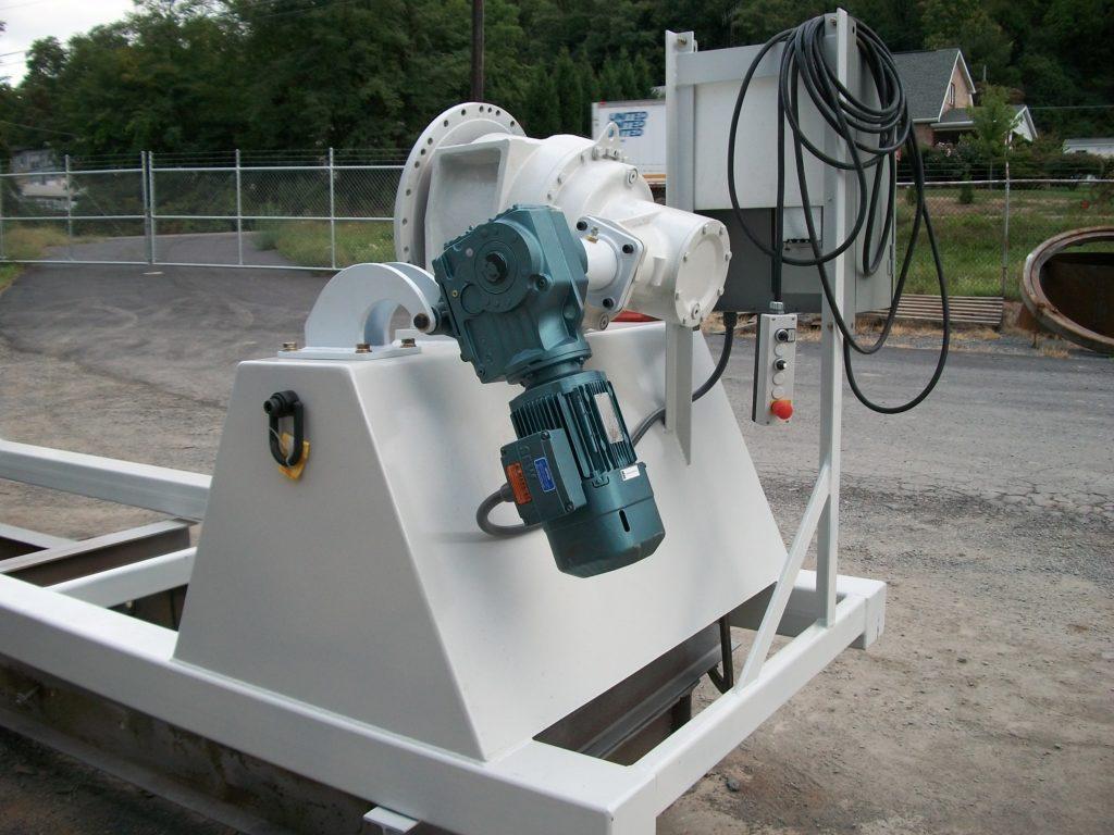 mixing unit for mushroom compost mixer