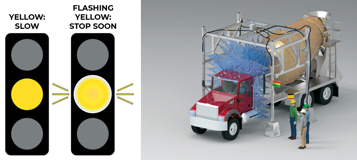 yellow light and entry wash illustration of load & go system